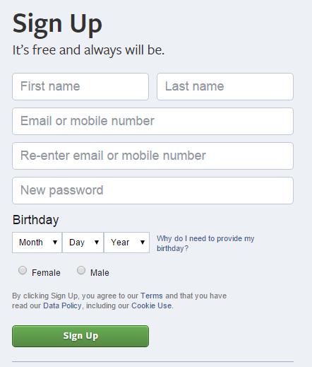 Facebook-par-form-bhare