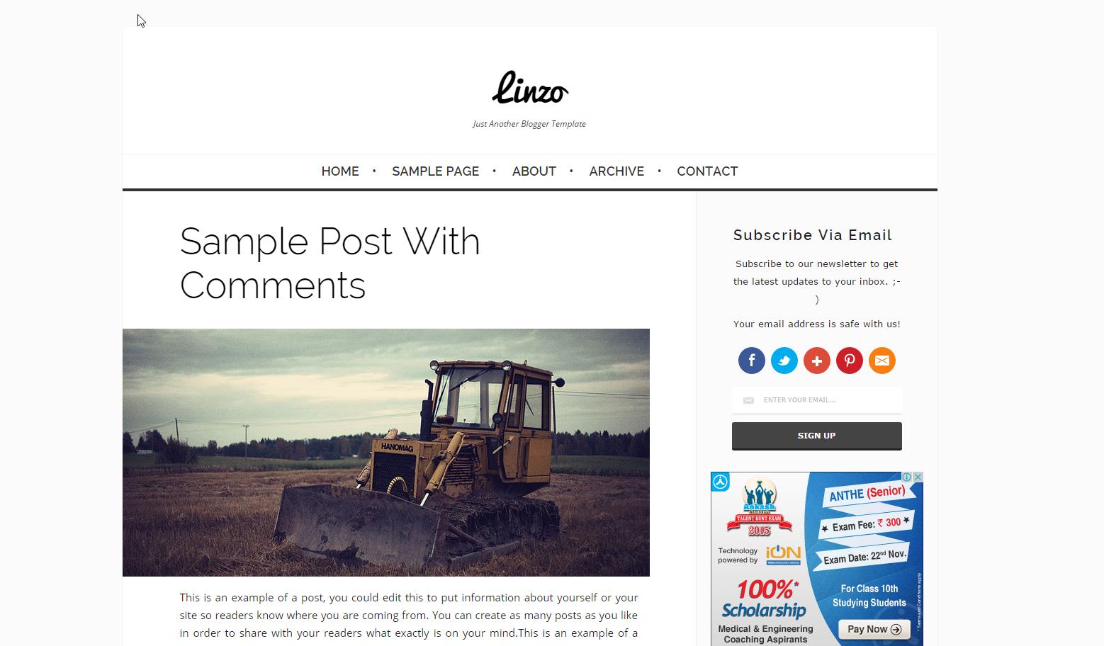 linzo-blogger-theme
