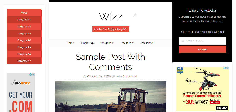 wizz-blogger-theme